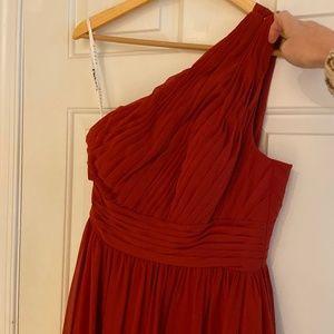 "Azazie ""Molly"" Rust Color Bridesmaid Dress"